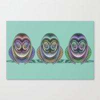 Three Owls Canvas Print