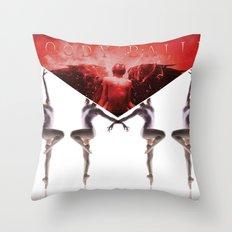 envelope bloody ballet Throw Pillow
