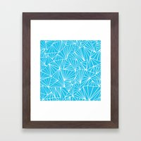 Ab Fan Electric Blue Framed Art Print