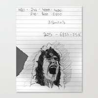 Runnin' With The Devil Canvas Print