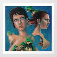 Women And Monsters Art Print