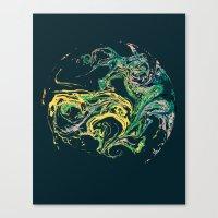 Swirling World V.1 Canvas Print