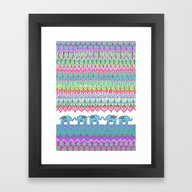 Tiny Circus Elephants Framed Art Print
