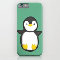 penguin iPhone & iPod Cases featuring penguin by Julie Zhang