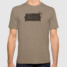 El Rey Del Sofà Mens Fitted Tee Tri-Coffee SMALL