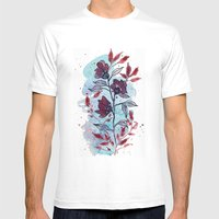 Floral 29 Mens Fitted Tee White SMALL