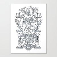 Satanic Rock Canvas Print