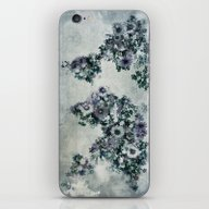 World Map Floral Black A… iPhone & iPod Skin