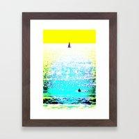 Sailboat and Swimmer (2c) Framed Art Print