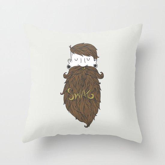 Beard Swag (Highlights) Throw Pillow