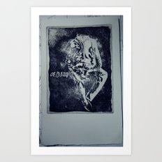 A man without Art Print