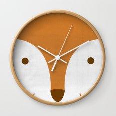 Mr Fleecy Fox Wall Clock