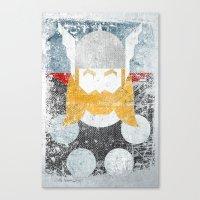 God Of Thunder Grunge Su… Canvas Print