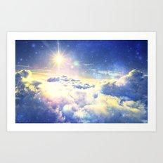 Galaxy Clouds : Heaven Art Print
