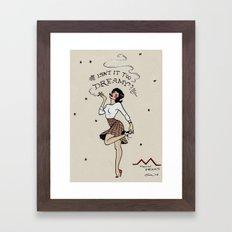Audrey Horne Pin-up Framed Art Print