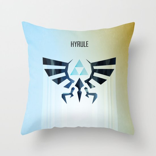 The Legend of Zelda - Hyrule Rising Poster Throw Pillow