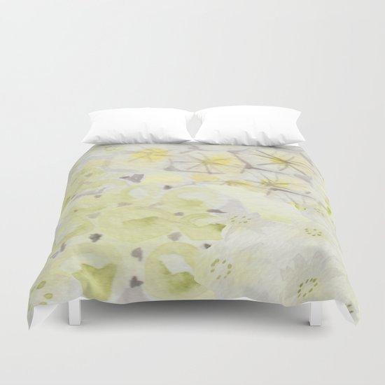 Lemon Abstract Duvet Cover