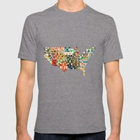 Geometric United States Mens Fitted Tee Tri-Grey SMALL