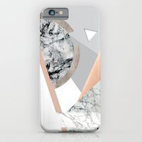 Collage I ( marble and copper ) iPhone 6 Slim Case