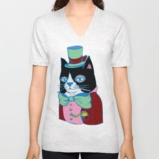 Dignified Cat Does Pastels Unisex V-Neck