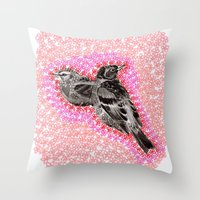 mother bird Throw Pillow