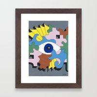 Patterned Eyes | The Left Eye 1/2 Framed Art Print