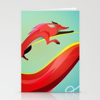 Fox Painting The Skyline Stationery Cards