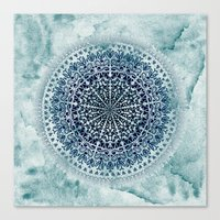 BLUE ICELAND MANDALA Canvas Print