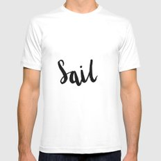 Sail SMALL Mens Fitted Tee White