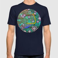 Wintermute Mens Fitted Tee Navy SMALL