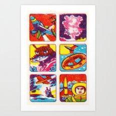 Comic Strip Art Print