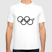 Olympic games logo 2014. Sochi. Mens Fitted Tee White SMALL