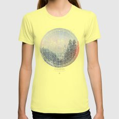 Fernweh Vol 2 Womens Fitted Tee Lemon SMALL