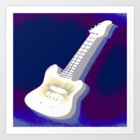 guitar Art Prints featuring Guitar by Vitta
