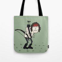 Sad John Rambo In A Field Tote Bag