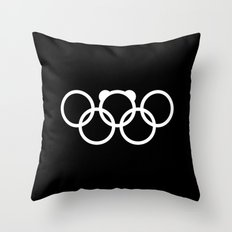 Olympic games logo 2014. Sochi. Bear. Throw Pillow
