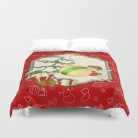 Fairy Merry Christmas Duvet Cover