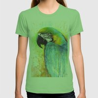 Macaw Womens Fitted Tee Grass SMALL