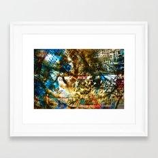 Retrollage 7.. Framed Art Print