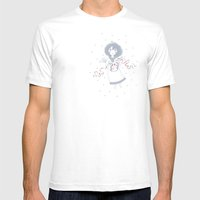Christmas Angel Mens Fitted Tee White SMALL