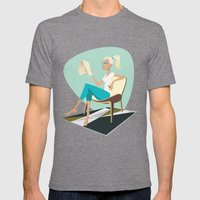 Pesky Little Sketches Mens Fitted Tee Tri-Grey SMALL