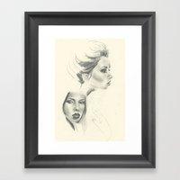 Double Hattie - Sketchbo… Framed Art Print