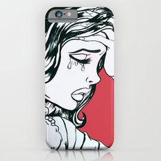 Crying Red Vintage Comic Book Painting  Slim Case iPhone 6s