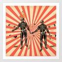 Dancing Skeletons Art Print