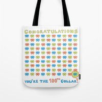 100th Collar! Tote Bag