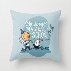 Mr Jones' Magical School Throw Pillow