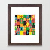 Elementary Diamonds. Framed Art Print