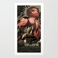 Escape From New York Pos… Art Print