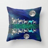 MOON CATS Throw Pillow