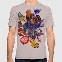 Semi-Precious Agate Burst, Earth's Core Flowers Mens Fitted Tee Cinder SMALL